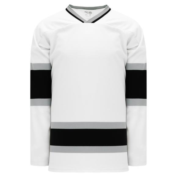 Athletic Knit (AK) H550BK-LAS942BK Pro Series - Knitted Old Los Angeles Kings White Hockey Jersey