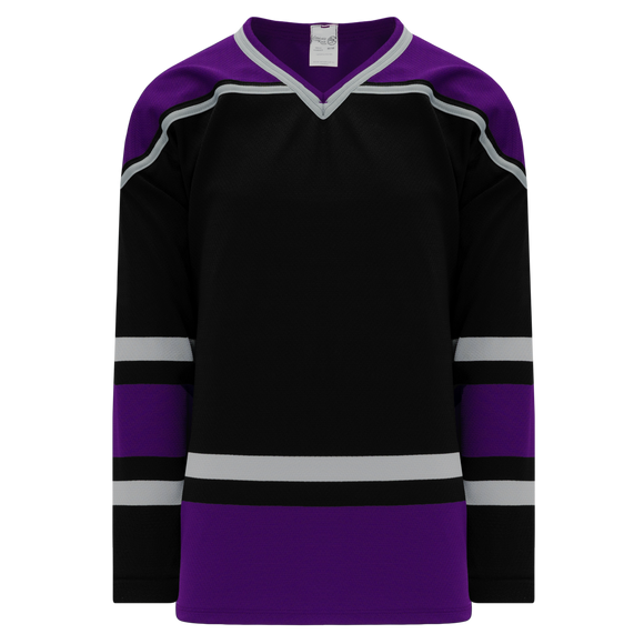 Athletic Knit (AK) H550BK-LAS951BK Pro Series - Knitted 1998 Los Angeles Kings Black Hockey Jersey