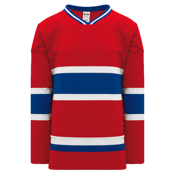 Athletic Knit (AK) H550BKA-MON308BK Pro Series - Adult Knitted Montreal Canadiens Red Hockey Jersey