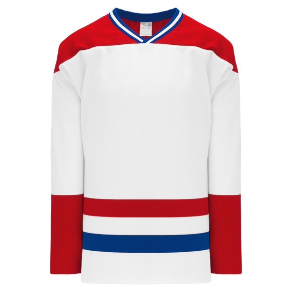 Athletic Knit (AK) H550BKY-MON309BK Pro Series - Youth Knitted Montreal Canadiens White Hockey Jersey