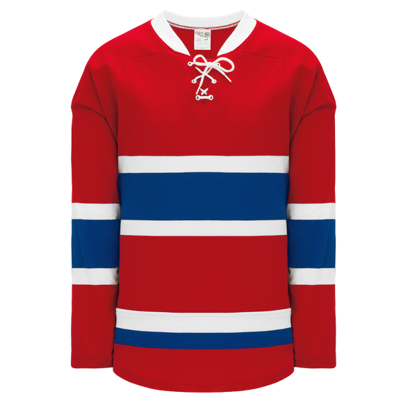 Athletic Knit (AK) H550BKY-MON558BK Pro Series - Youth Knitted 2015 Montreal Canadiens Red Hockey Jersey