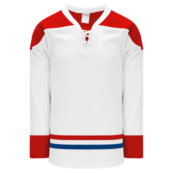 Athletic Knit (AK) H550BKA-MON559BK Pro Series - Adult Knitted 2015 Montreal Canadiens White Hockey Jersey