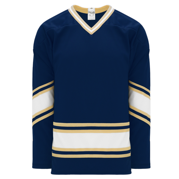 Athletic Knit (AK) H550BK-NDA520BK Pro Series - Knitted University of Notre Dame Fightin' Irish Navy Hockey Jersey