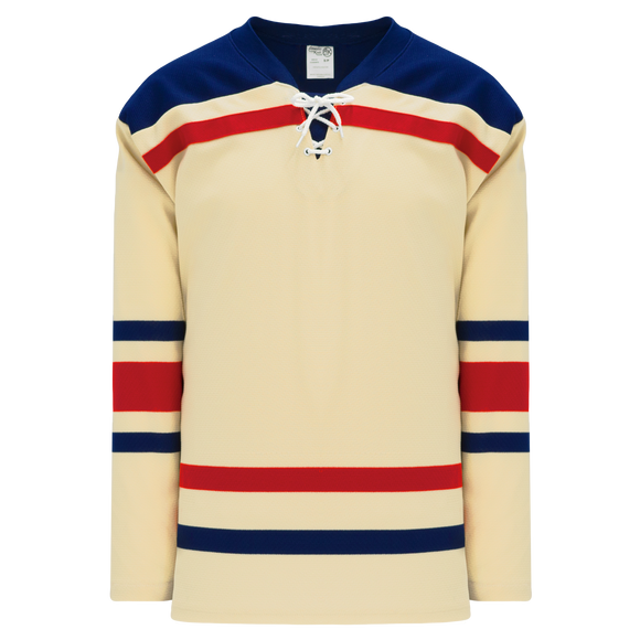 Athletic Knit (AK) H550BK-NYR513BK Pro Series - Knitted New York Rangers Winter Classic Sand Hockey Jersey