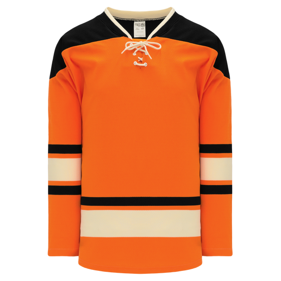 Athletic Knit (AK) H550BKY-PHI526BK Pro Series - Youth Knitted 2012 Philadelphia Flyers Winter Classic Orange Hockey Jersey