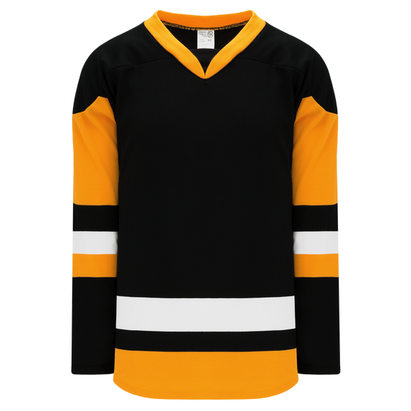 Athletic Knit (AK) H550BKA-PIT816BK Pro Series - Adult Knitted 2014 Pittsburgh Penguins Third Black Hockey Jersey