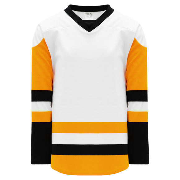 Athletic Knit (AK) H550BKA-PIT817BK Pro Series - Adult Knitted 2016 Pittsburgh Penguins White Hockey Jersey