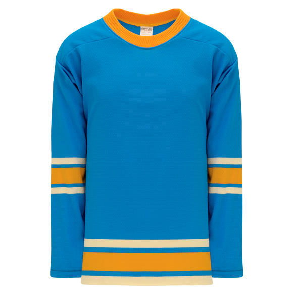 Athletic Knit (AK) H550BK-STL442BK Pro Series - Knitted 2016 St. Louis Blues Winter Classic Blue Hockey Jersey