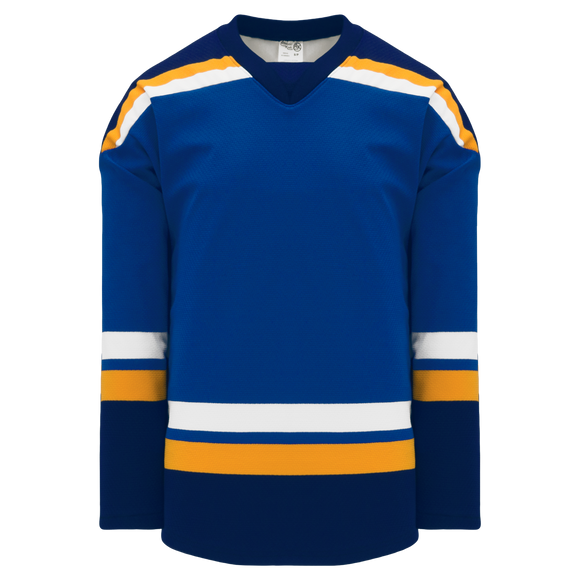 Athletic Knit (AK) H550BKA-STL448BK Pro Series - Adult Knitted 2014 St. Louis Blues Royal Blue Hockey Jersey