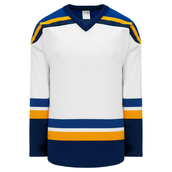 Athletic Knit (AK) H550BK-STL449BK Pro Series - Knitted 2014 St. Louis Blues White Hockey Jersey