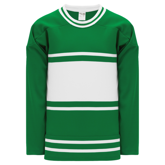 Athletic Knit (AK) H550BK-TOR454BK Pro Series - Knitted New Toronto Maple Leafs Third Kelly Green Hockey Jersey