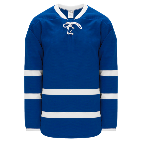 Athletic Knit (AK) H550BK-TOR509BK Pro Series - Knitted 2011 Toronto Maple Leafs Royal Blue Hockey Jersey