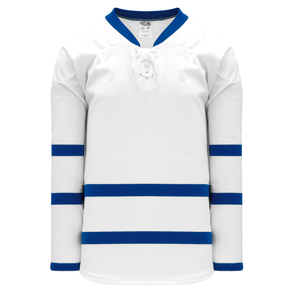 Athletic Knit (AK) H550BK-TOR523BK Pro Series - Knitted 2011 Toronto Maple Leafs White Hockey Jersey