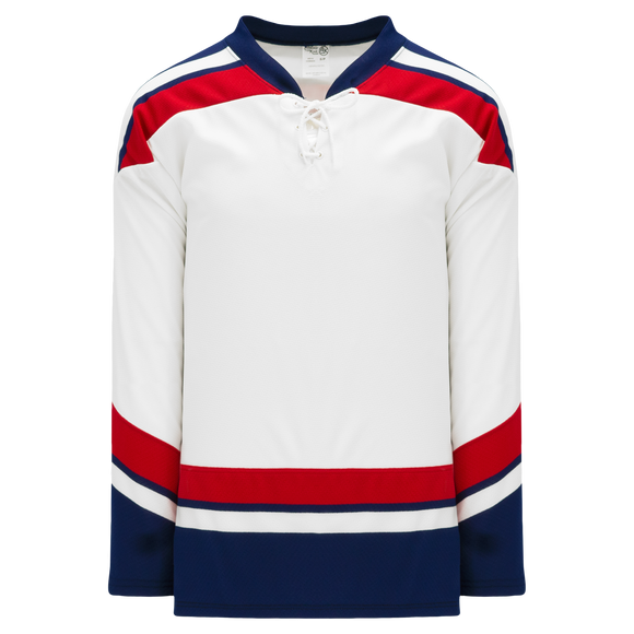 Athletic Knit (AK) H550BKA-USA981BK Pro Series - Adult Knitted 2005 Team USA White Hockey Jersey