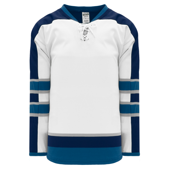 Athletic Knit (AK) H550BKA-WIN596BK Pro Series - Adult Knitted 2011 Winnipeg Jets White Hockey Jersey