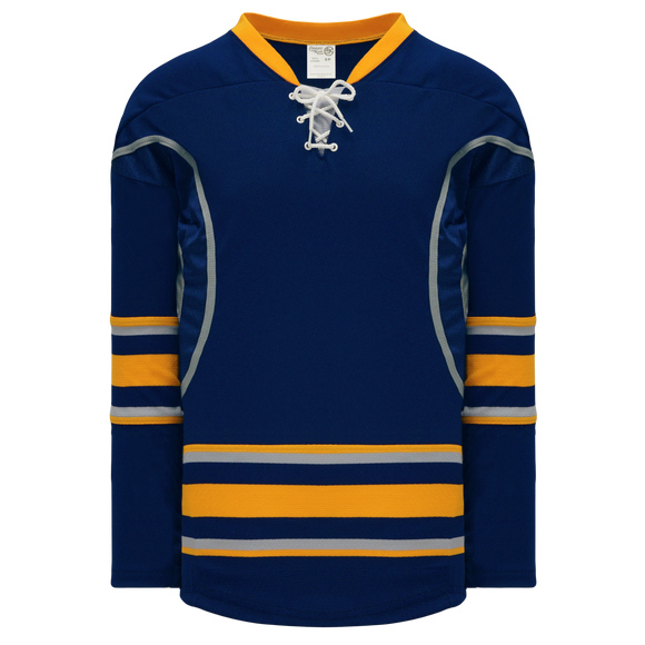Athletic Knit (AK) H550CK-BUF810CK Pro Series - Knitted 2009 Buffalo Sabres Third Navy Hockey Jersey