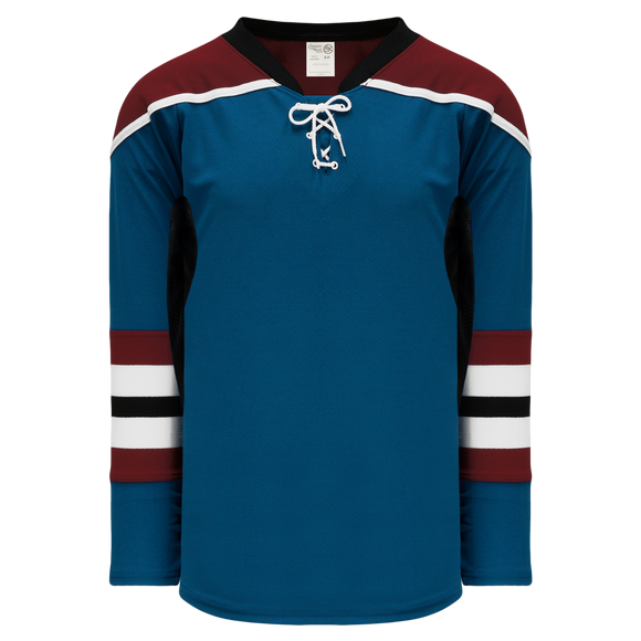 Athletic Knit (AK) H550CKY-COL645CK Youth Pro Series - Knitted Colorado Avalanche Third Capital Blue Hockey Jersey
