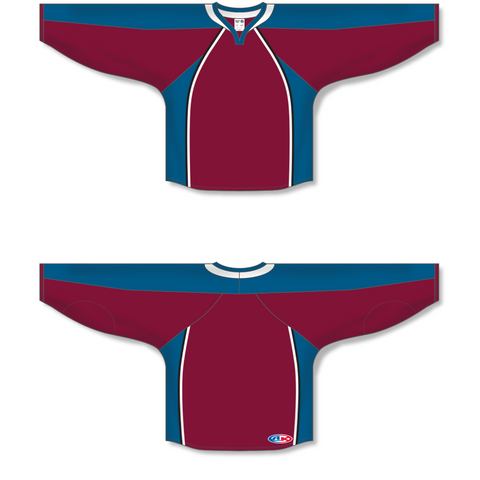 Image of Athletic Knit (AK) H550C 2011 Colorado Avalanche Cardinal Red Hockey Jersey - PSH Sports