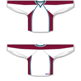 Athletic Knit (AK) H550C 2011 Colorado Avalanche White Hockey Jersey - PSH Sports