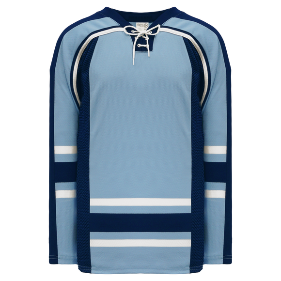 Athletic Knit (AK) H550CK-MAI354CK Pro Series - Knitted New University of Maine Black Bears Third Powder Blue Hockey Jersey