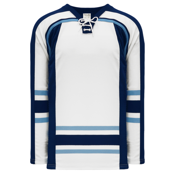 Athletic Knit (AK) H550CK-MAI361CK Pro Series - Knitted University of Maine Black Bears Third White Hockey Jersey