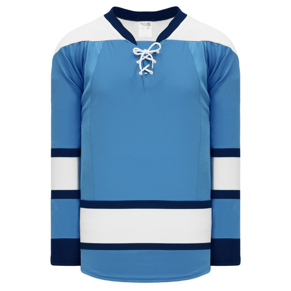 Athletic Knit (AK) H550CKA-PIT828CK Adult Pro Series - Knitted 2008 Pittsburgh Penguins Third Sky Blue Hockey Jersey