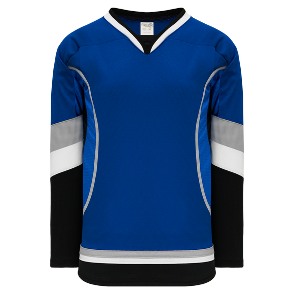 Athletic Knit (AK) H550CK-TAM838CK Pro Series - Knitted 2009 Tampa Bay Lightning Third Royal Blue Hockey Jersey