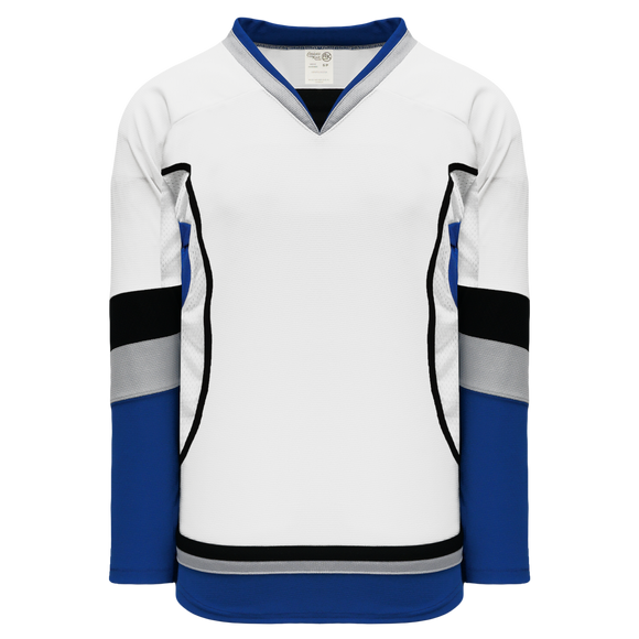 Athletic Knit (AK) H550CK-TAM842CK Pro Series - Knitted 2009 Tampa Bay Lightning Third White Hockey Jersey