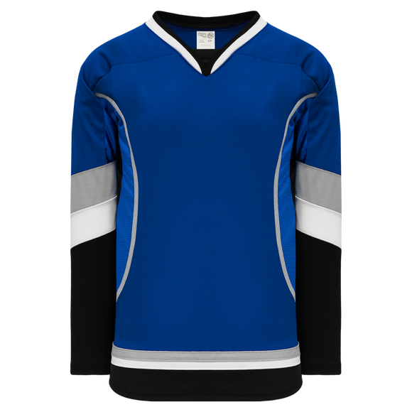 Athletic Knit (AK) H550C-TAM896C New 2009 Tampa Bay Lightning Third Royal Blue Hockey Jersey