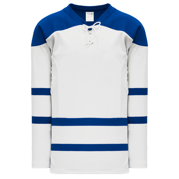 Athletic Knit (AK) H550CK-TOR508CK Pro Series - Knitted 2002 Toronto Maple Leafs Third White Hockey Jersey