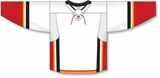 Athletic Knit (AK) H550D-CAL719D 2017 Calgary Flames White Hockey Jersey
