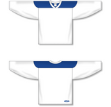 Athletic Knit (AK) H6100 White/Royal Blue League Hockey Jersey - PSH Sports