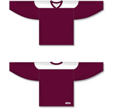 Athletic Knit (AK) H6100 Maroon/White League Hockey Jersey - PSH Sports