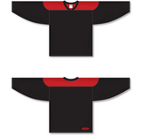 Athletic Knit (AK) H6100 Black/Red League Hockey Jersey - PSH Sports