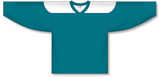 Athletic Knit (AK) H6100 Pacific Teal/White League Hockey Jersey - PSH Sports