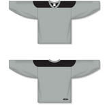 Athletic Knit (AK) H6100 Grey/Black League Hockey Jersey - PSH Sports