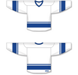Athletic Knit (AK) H6400 White/Royal Blue League Hockey Jersey - PSH Sports