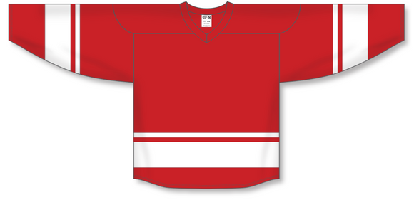Athletic Knit (AK) H6400 Red/White League Hockey Jersey - PSH Sports