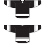 Athletic Knit (AK) H6400 Black/White League Hockey Jersey - PSH Sports