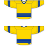 Athletic Knit (AK) H6400 Maize/Royal Blue League Hockey Jersey - PSH Sports