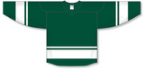 Athletic Knit (AK) H6400 Dark Green/White League Hockey Jersey - PSH Sports
