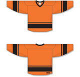 Athletic Knit (AK) H6400 Orange/Black League Hockey Jersey - PSH Sports
