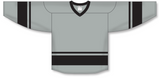 Athletic Knit (AK) H6400 Grey/Black League Hockey Jersey - PSH Sports