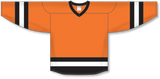 Athletic Knit (AK) H6500 Orange/Black/White League Hockey Jersey - PSH Sports