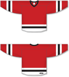 Athletic Knit (AK) H6500 Red/White/Black League Hockey Jersey - PSH Sports