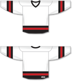 Athletic Knit (AK) H6500 White/Black/Red League Hockey Jersey - PSH Sports
