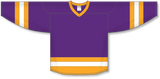 Athletic Knit (AK) H6500 Purple/Gold/White League Hockey Jersey - PSH Sports