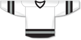 Athletic Knit (AK) H6500 White/Black/Grey League Hockey Jersey - PSH Sports