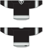 Athletic Knit (AK) H6500 Black/Grey/White League Hockey Jersey - PSH Sports