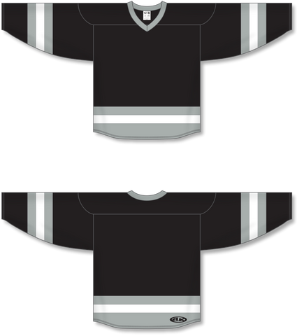 Image of Athletic Knit (AK) H6500 Black/Grey/White League Hockey Jersey - PSH Sports